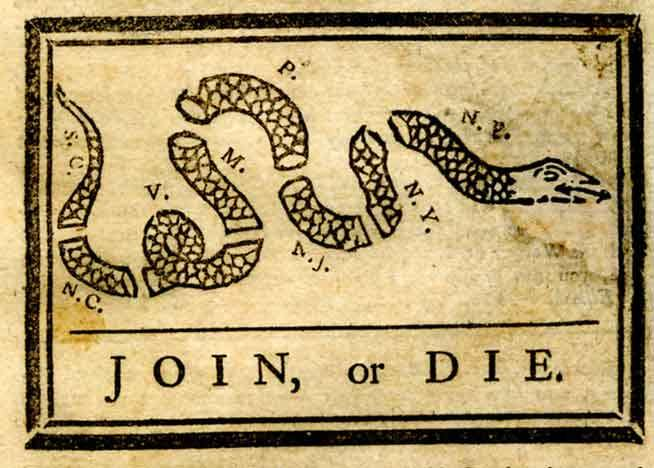 Benjamin Franklin's Join or Die Cartoon