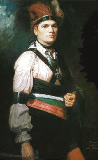 Mohawk Chief Joseph Brant by George Romney