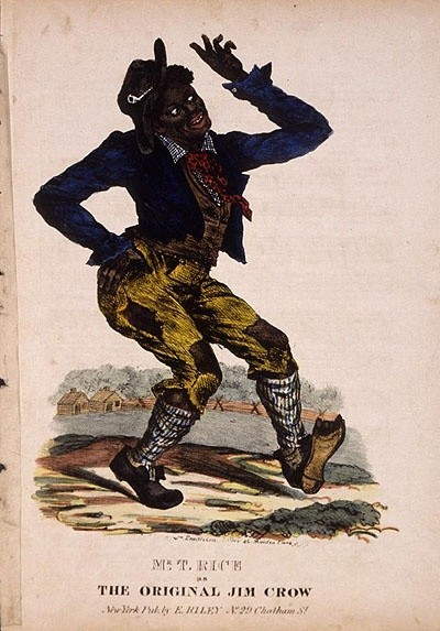 Cover of an early edition of Jump Jim Crow sheet music