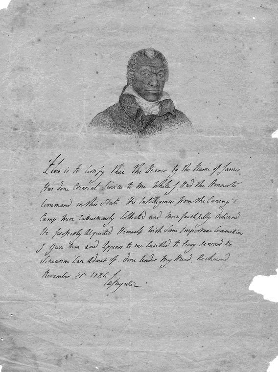 James Armistead Americas Slave Spy Gets His Freedom Lafayette For Freedom