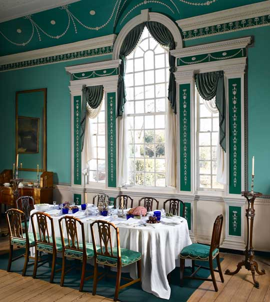 Mount Vernon Dining Room: George Washington Learns He Has Been Elected The First