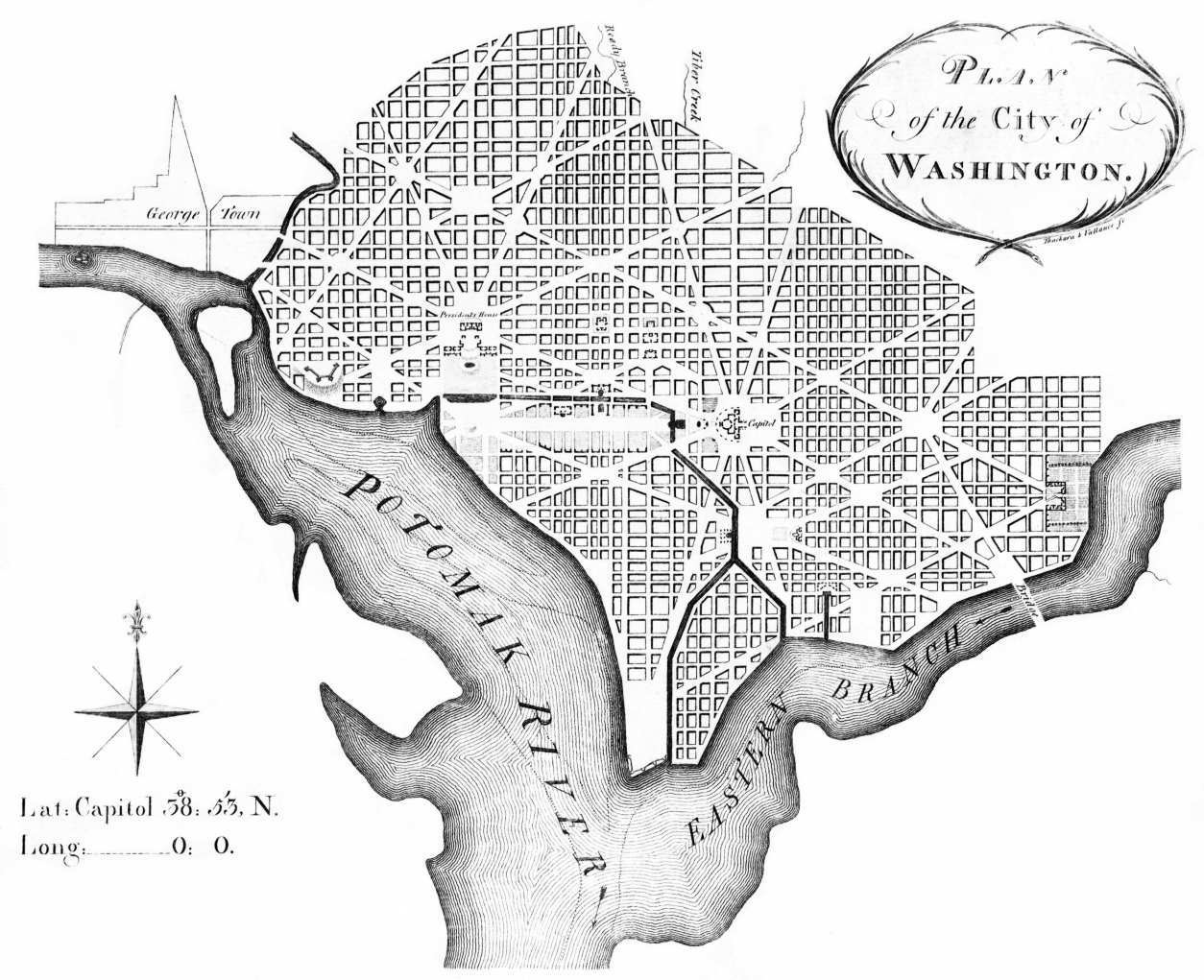 L'Enfant's original plan for Washington DC