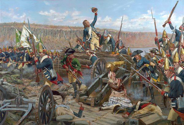 Margaret Corbin at Fort Washington by Don Troiani