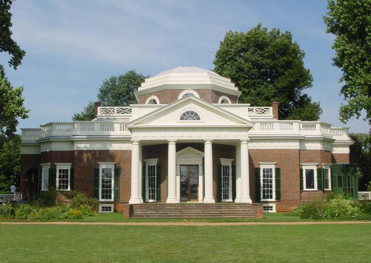 Monticello, Home of Thomas Jefferson, Charlottesville, Virginia
