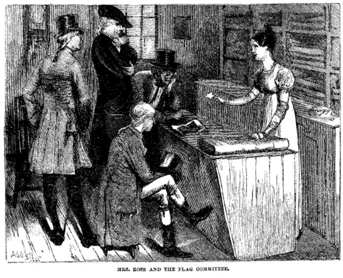 Mrs. Ross and the Flag Committee from Harper's New Monthly Magazine, July, 1873