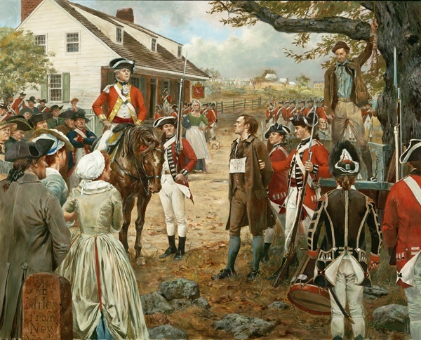 Nathan Hale - September 22, 1776 by Don Troiani