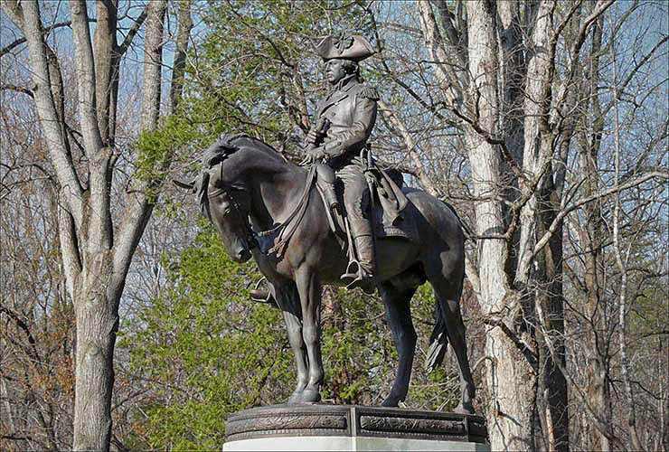 Major General Nathanael Green Statue, Guilford Courthouse National Military Park, Greensboro, North Carolina
