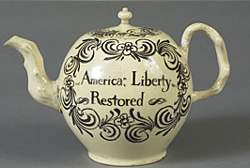 No Stamp Act Teapot