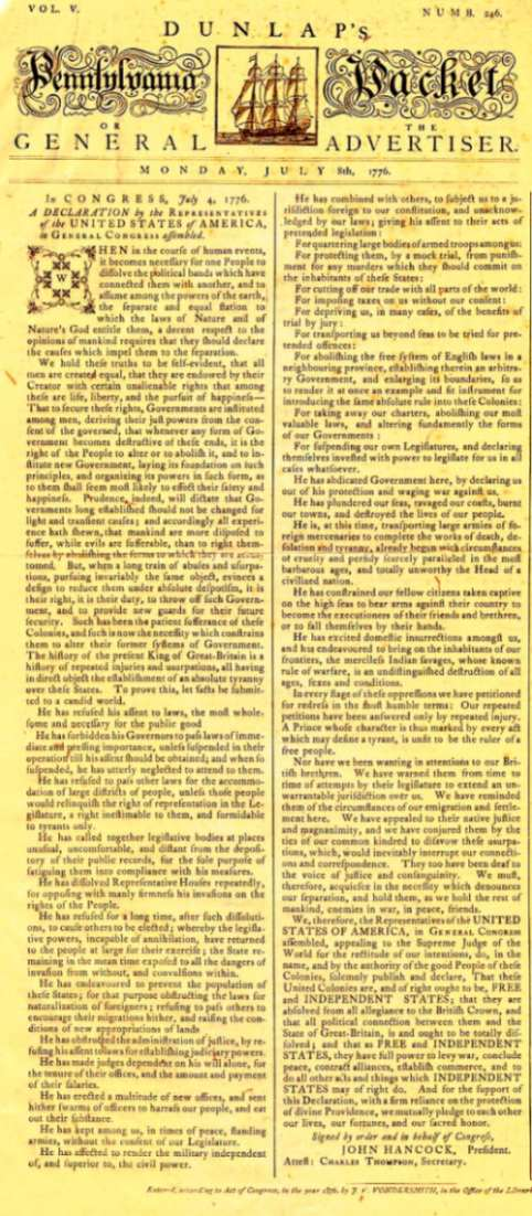 It's just a picture of Printable Copy of the Declaration of Independence regarding school