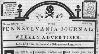 newspaper masthead october 1765