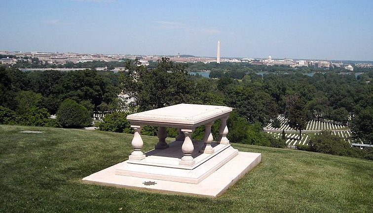 Grave of Pierre Charles L'Enfant at Arlington National Cemetery, overlooking Washington DC