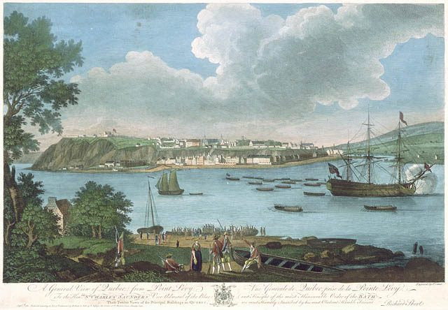View of Quebec from Point Levis, 1760
