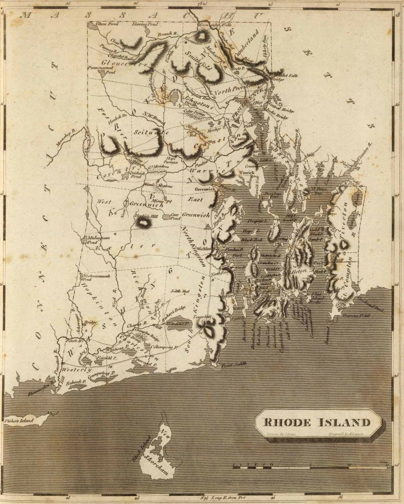 Rhode Island Colonial Map