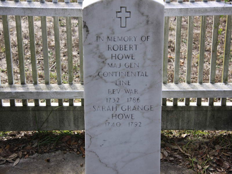 Robert Howe Memorial Grave