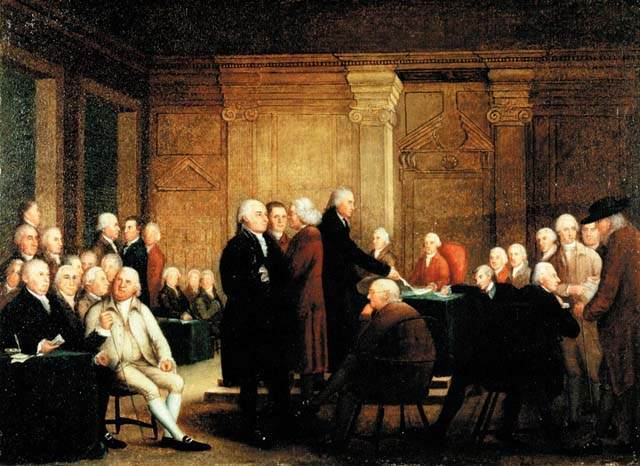 Second Continental Congress by Edward Savage