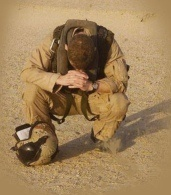 Soldier praying