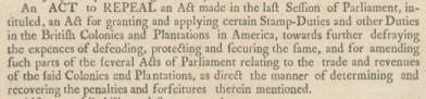 Stamp Act Repeal Announcement, Boston Gazette