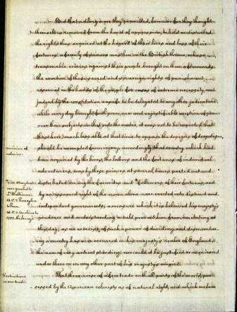 Page from A Summary View of the Rights of British America by Thomas Jefferson