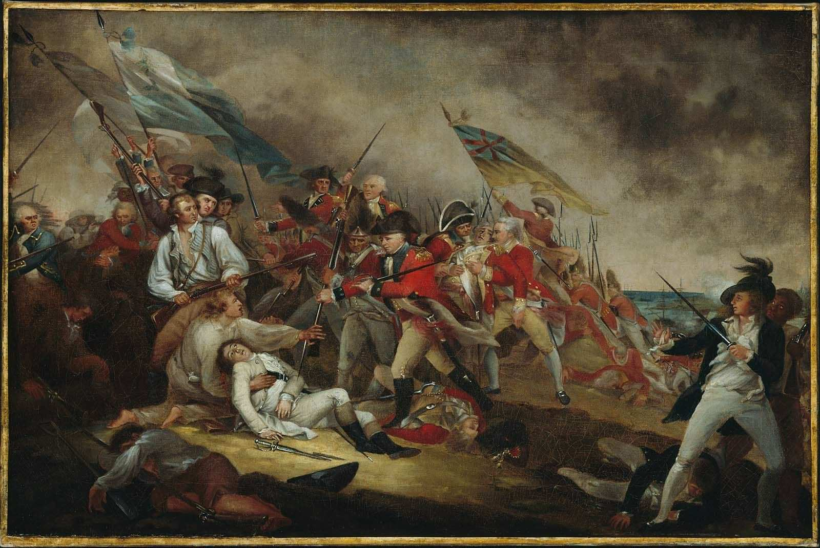The Death of General Warren at the Battle of Bunker Hill  by Jonathan Trumbull