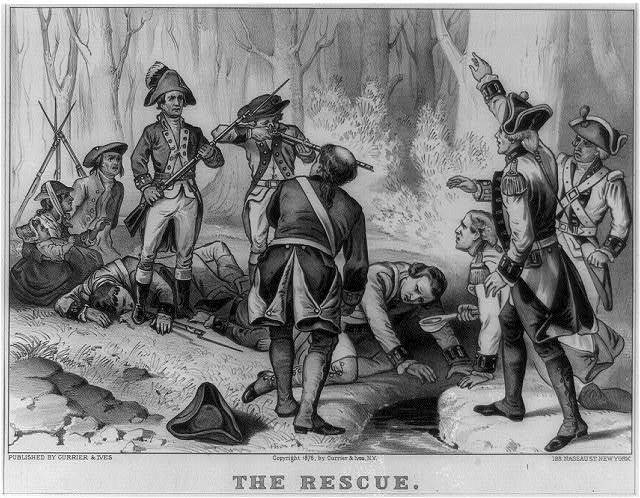 The Rescue by Currier & Ives, 1876