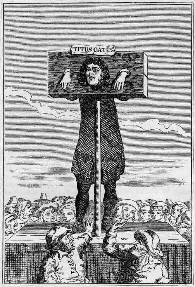 Titus Oates pilloried