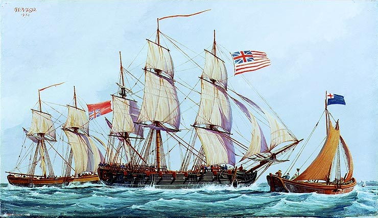 The Ship Columbus of the Continental Navy by Noland Van Powell