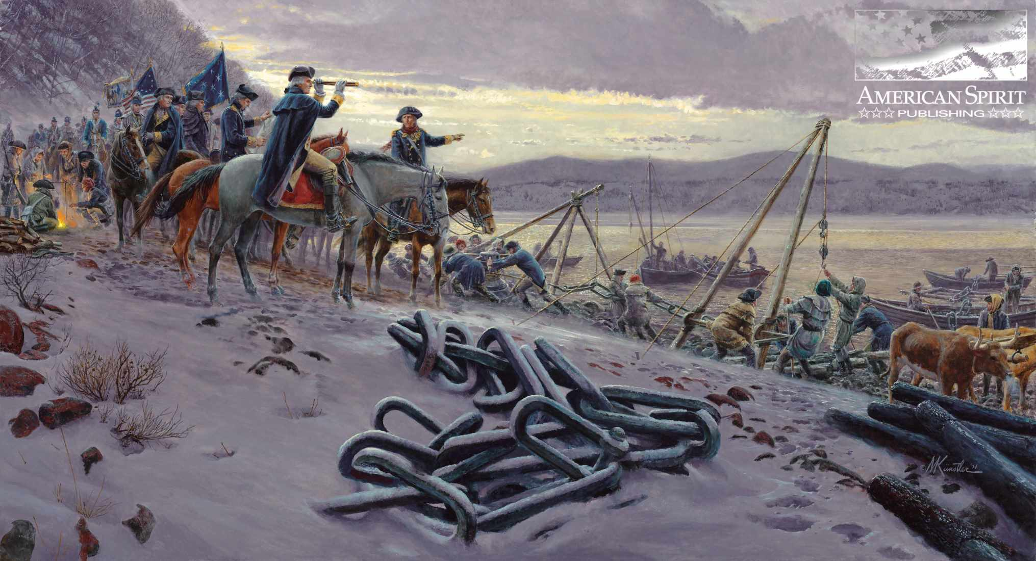 Washington's Watch Chain by Mort Kunstler
