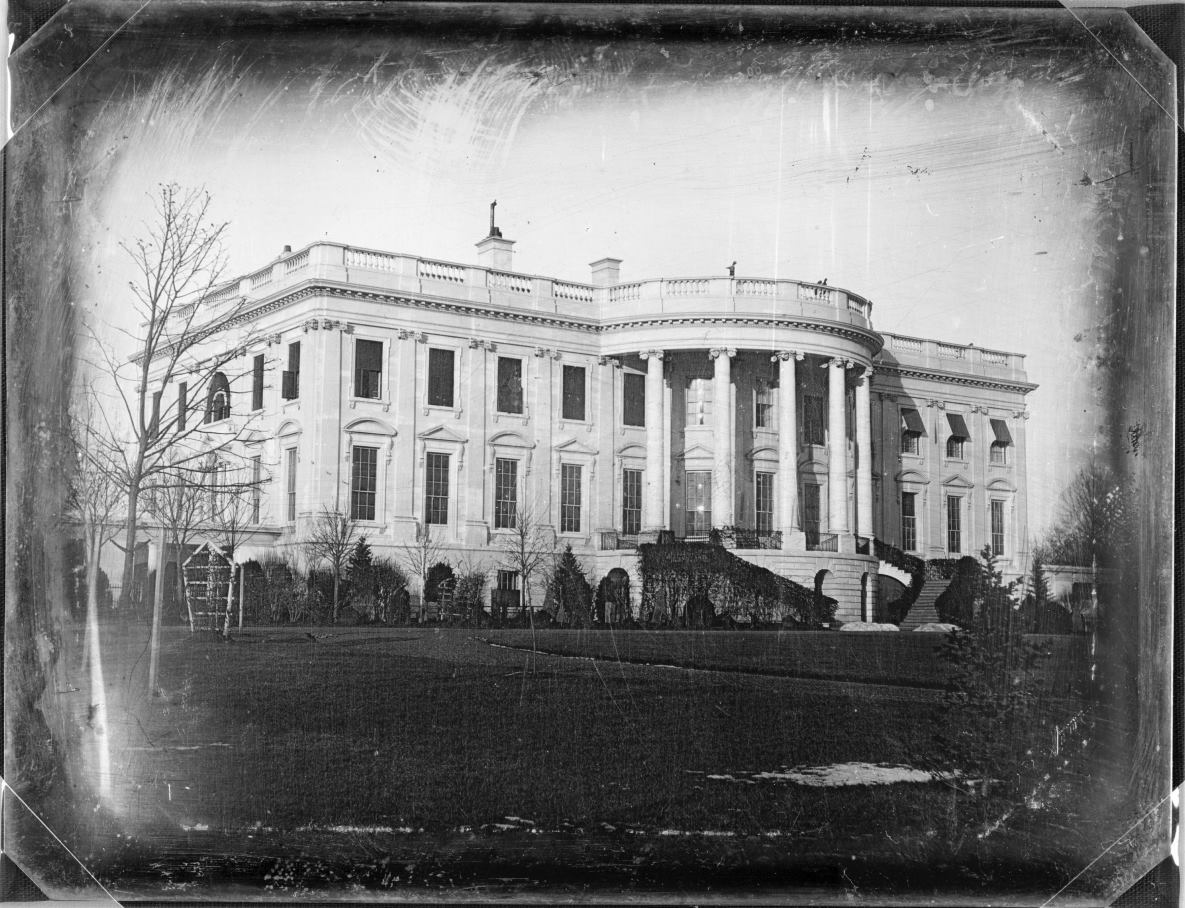 Oldest photo of the White House, taken around 1846