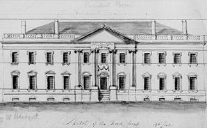 White House, circa 1800
