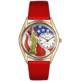 Women's Patriotic Gold Tone Watch