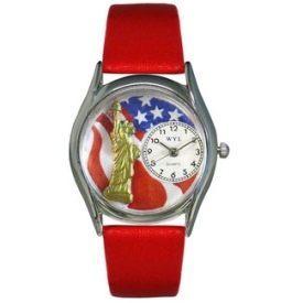 Women's Patriotic Silver Tone Watch