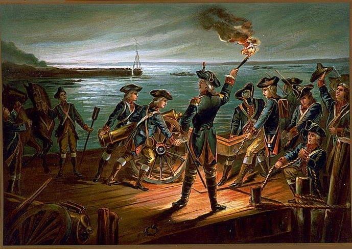 Artillery retreat from Long Island