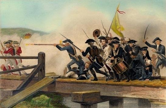 Battle on Concord Bridge by Alonzo Chappel