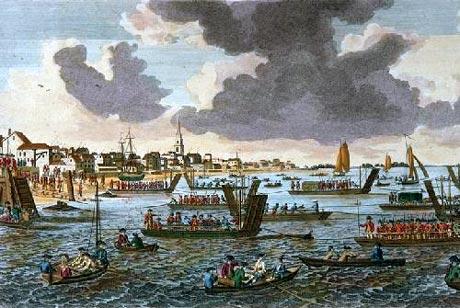 British troops landing at Kips Bay, 1776