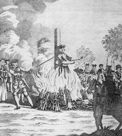 Catherine Hayes burned at the stake