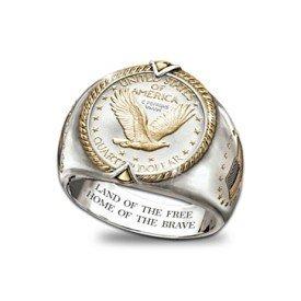 Liberty Quarter Men's Ring