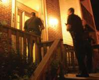 Officers at the door
